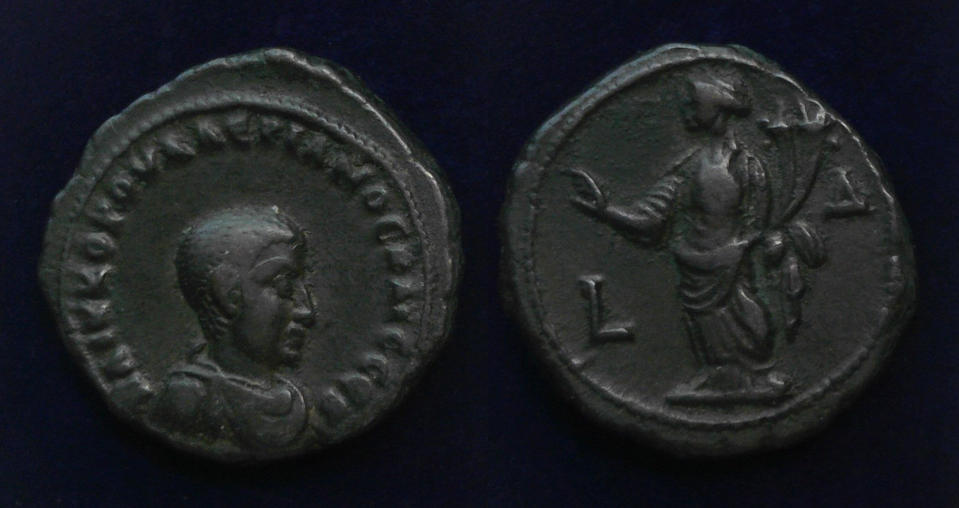 Egypt, Alexandria, Valerian II, Caesar, AD 256-258Alexandria Varerian II.jpg