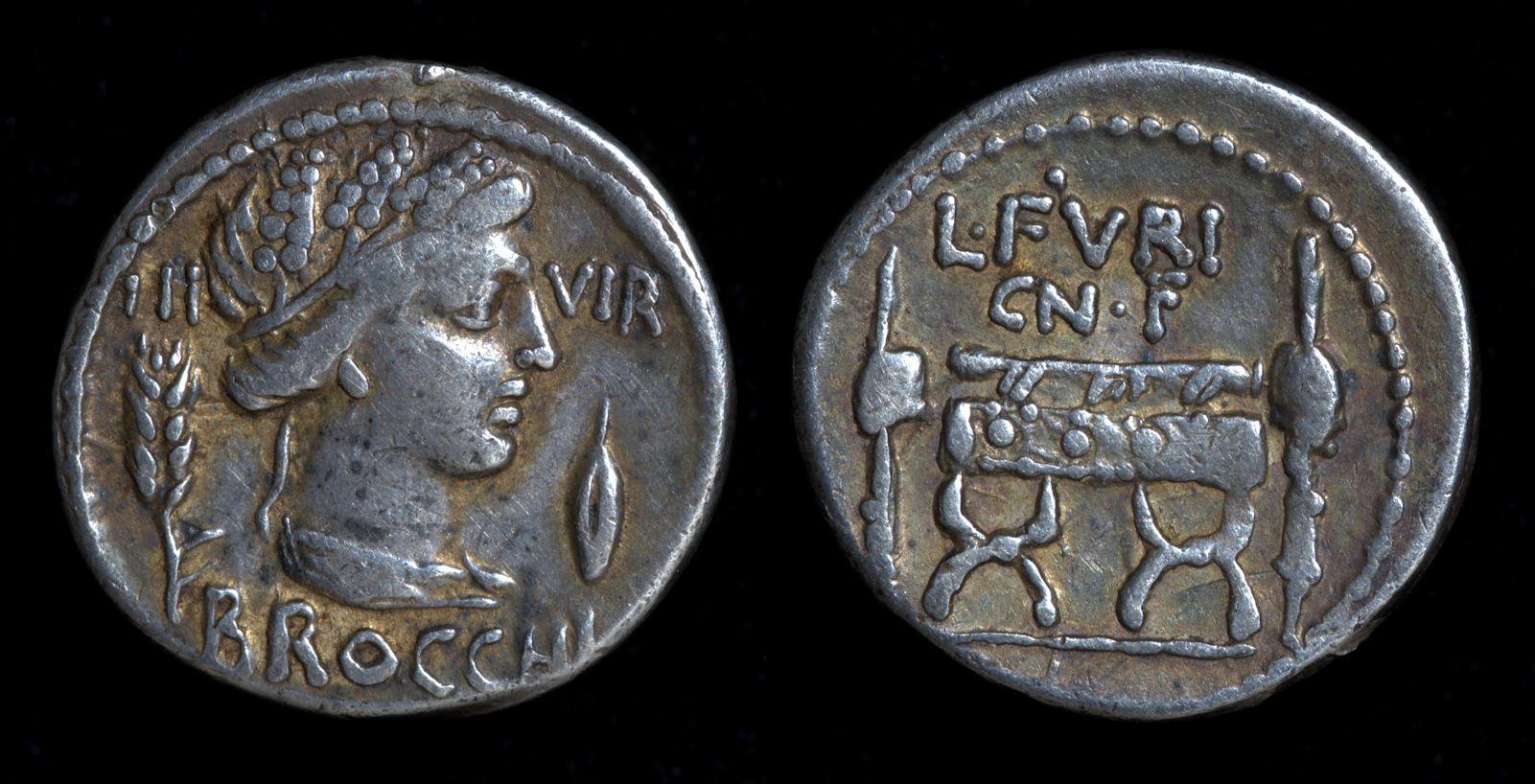 L. Furius Cn.f. Brocchus, 63 BC, C. 414/1