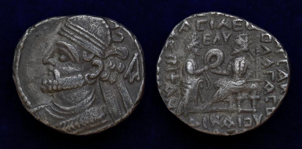 Kings of Parthia, Vologases III, BI Tetradrachm, Seleukeia on the Tigris, year 435 (AD 123)