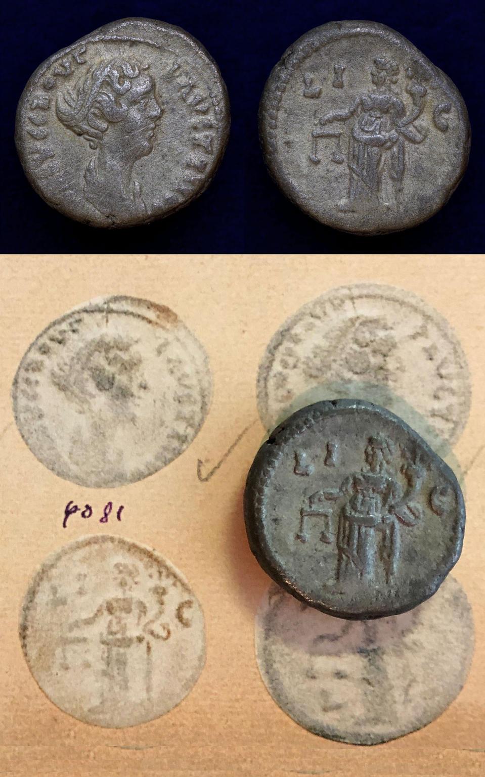 Faustina junior, daughter of Antoninus Pius and wife of Marcus Aurelius Tetradrachm circa AD 151-152 (year 15)