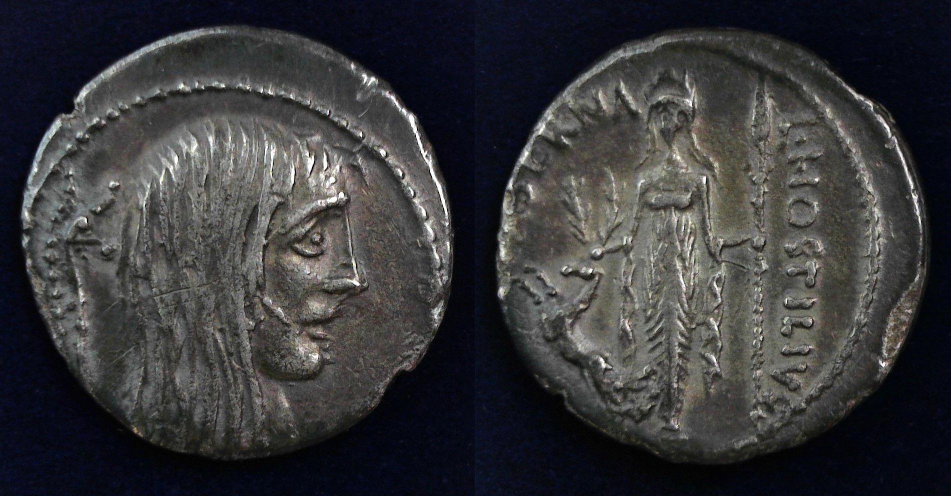 L. Hostilius Saserna, 48 BC, 448/3