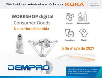 WORKSHOP KUKA para la Industria de Consumer Goods (Alimentación, Cosmética, Farmacia, Textil...)