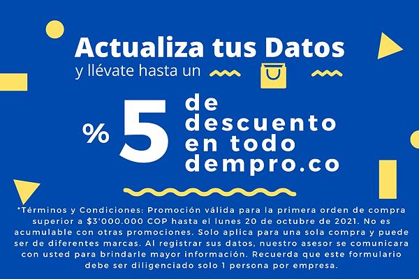 Dempro-Descuento campaña actualizacion de datos