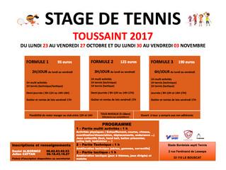 STAGE DE TENNIS DE TOUSSAINT