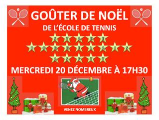 GOUTER DE NOEL DE L'ECOLE DE TENNIS