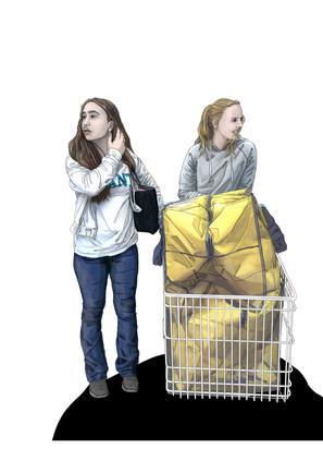 Ullared - girls shopping