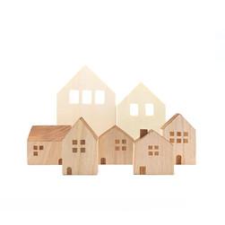 Houten speelgoed Huizen