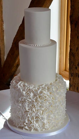 ruffles wedding cake.