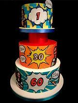 Pop art birthday cake