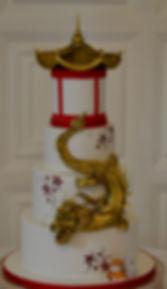 Oriental dragon wedding cake