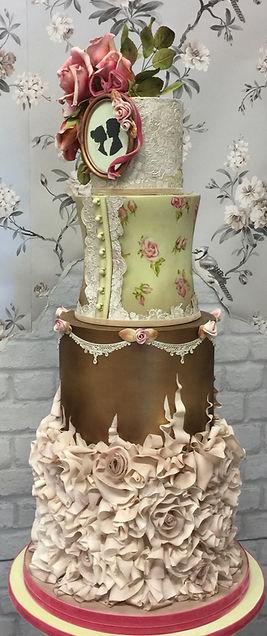 Victorian style wedding cake