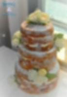 lemon naked cake