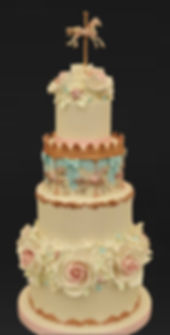 Carousel wedding cake.
