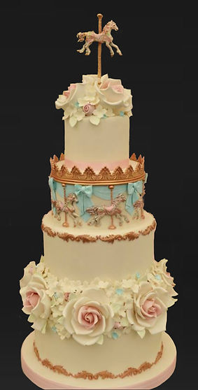 Carousel wedding cake.