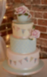 Sugar teacup wedding cake