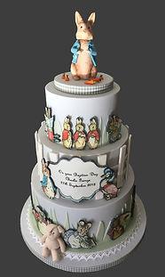 Beatrix potter, Peter rabbit cake.