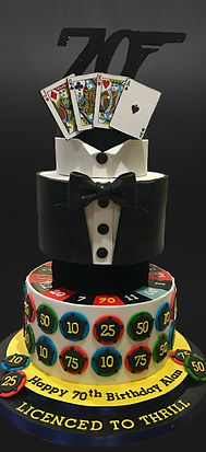 Casino Royale birthday cake