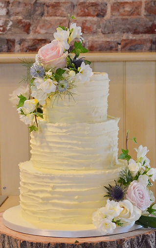 butterceam ruffles wedding cake