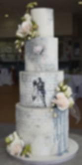 Banksy wedding cake