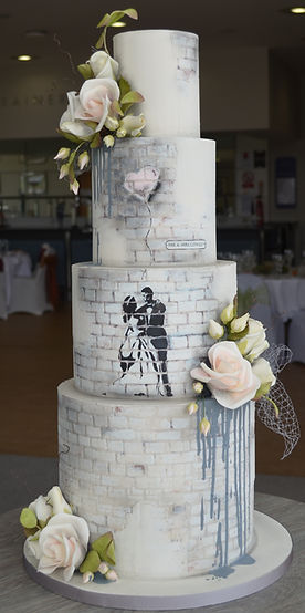 Banksy wedding cake
