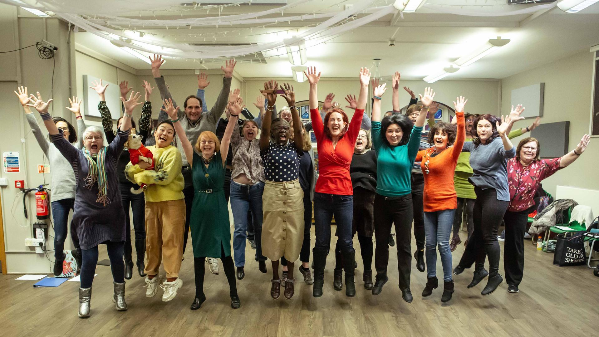 Palace Acappella Choir group photo. Credit Harry Livingstone.