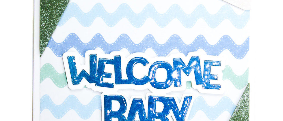 Welcome Baby - Blue/Green