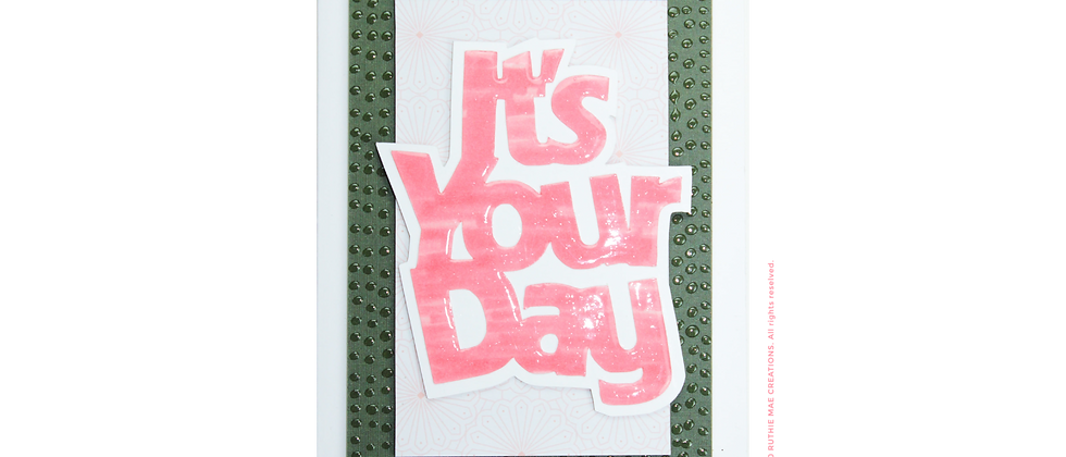 It's Your Day Grandma - Pink/Green