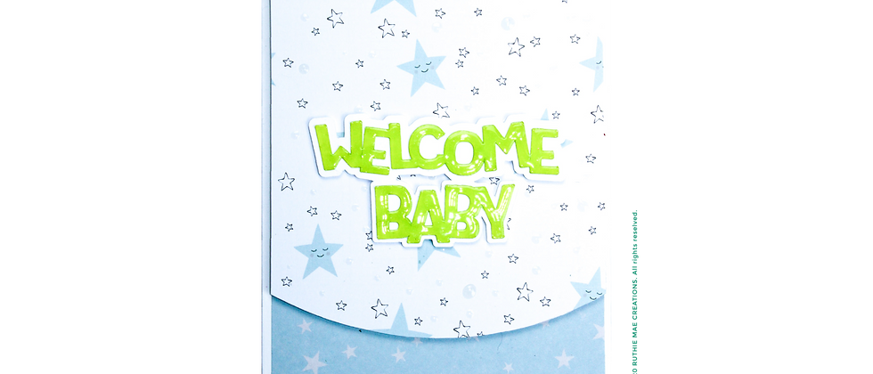 Welcome Baby - Neon/Blue