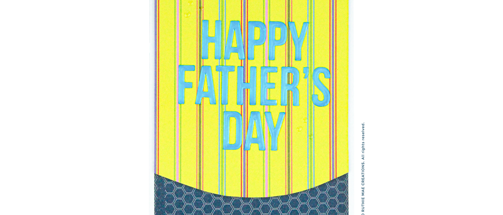 Happy Father's Day - Yellow Stripes