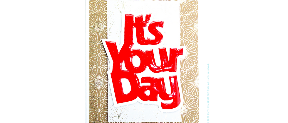 It's Your Day Grandpa - Gold/Red