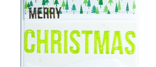 Merry Christmas - Pine/Green