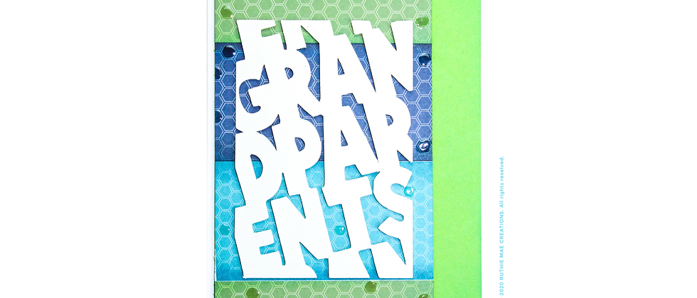 Happy Grandparents Day -Blue/Green