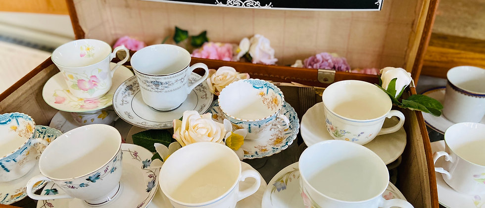 Tea Party Cups and Saucers