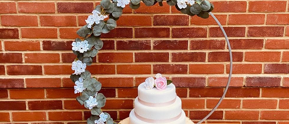 Flower Hoop Cake Stand