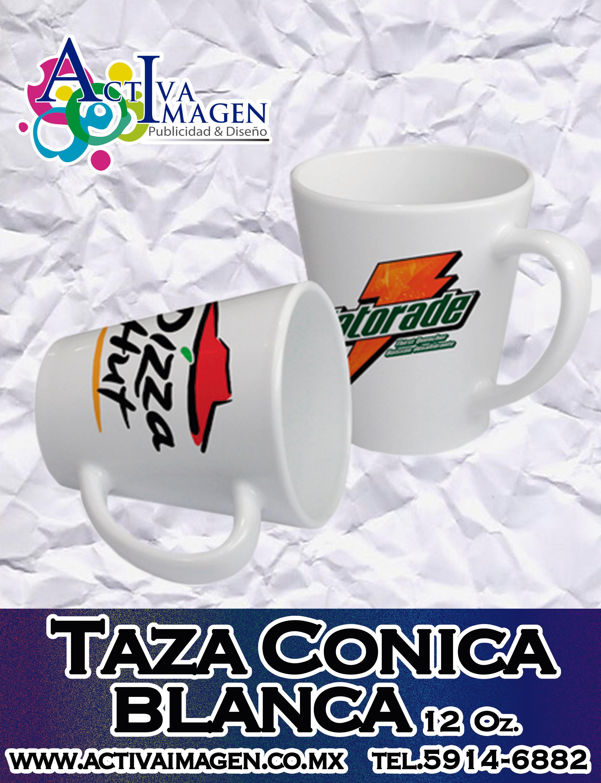 taza blanc conica