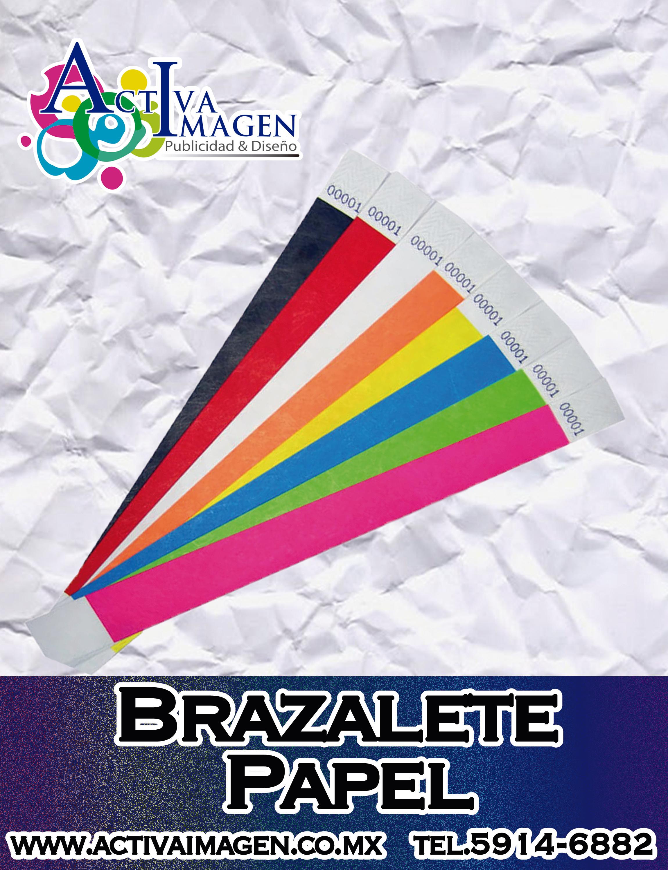 brazalete papel