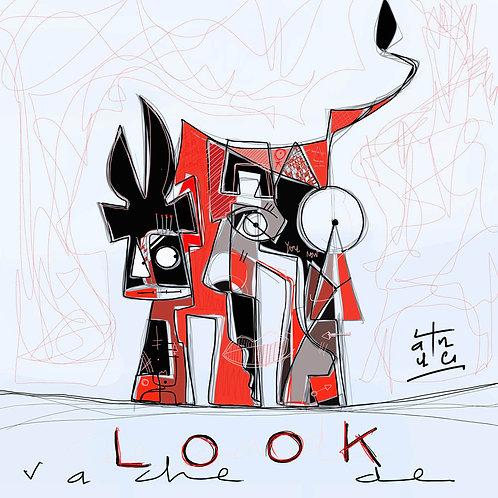 VanLuc carte-postale Vache de Look