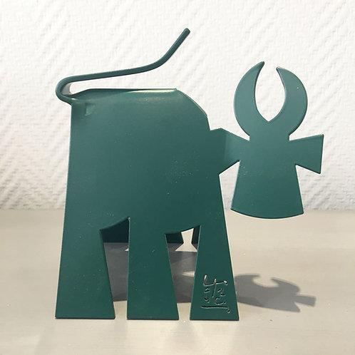 Vache de Métal format S monochrome vert