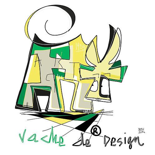 VanLuc carte-postale Vache de Design