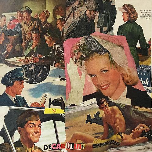 Decaroline carte-postale Soldiers