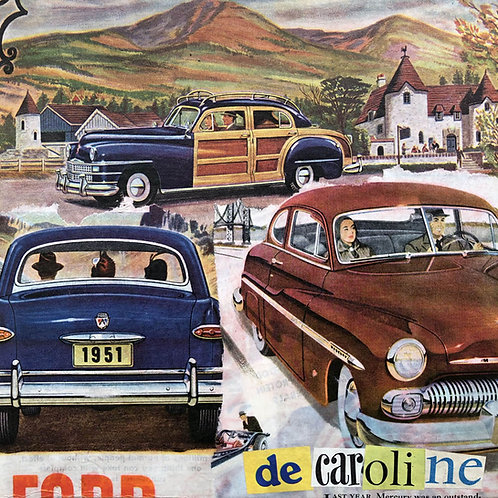 Decaroline carte-postale Voitures Ford