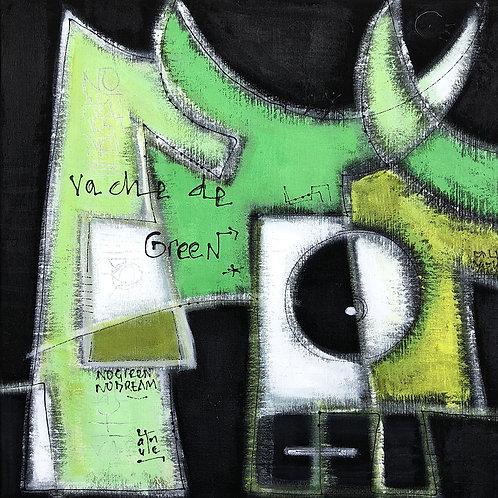 VanLuc Tableau Vache de Green
