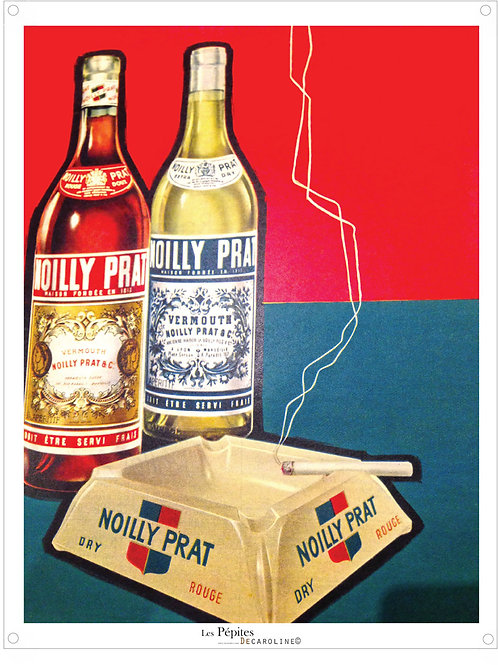 Decaroline illustration 50's sur métal - Noilly Prat
