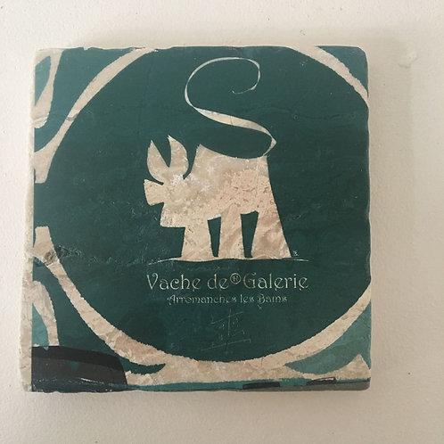 VanLuc Marbre Dessous Vache de Galerie Vert