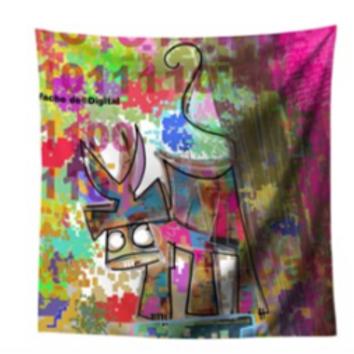 VanLuc foulard Vache de Digital