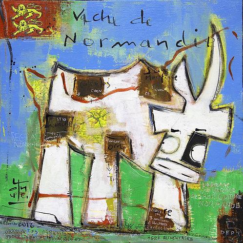 VanLuc carte-postale Vache de Normandie