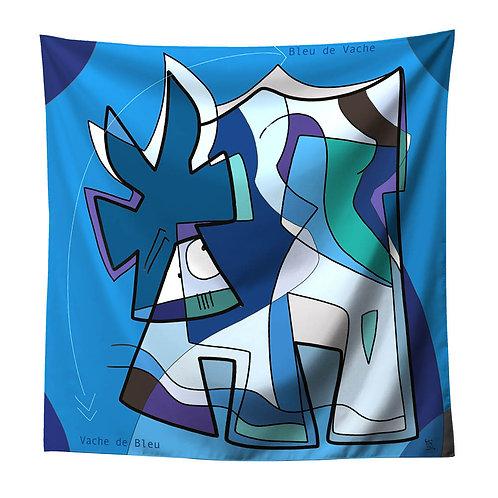 VanLuc foulard Vache de Bleu