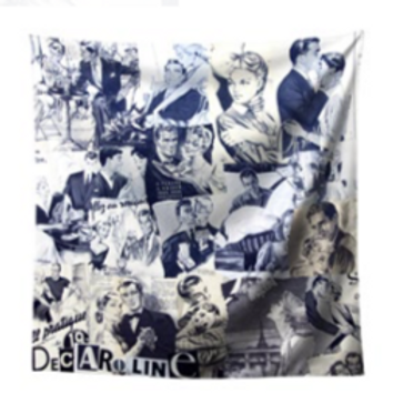 Decaroline foulard Amoureux noir & blanc