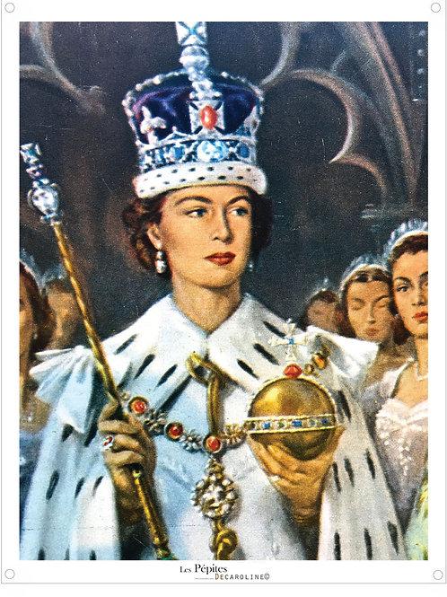 Decaroline illustration 50's sur métal - La Reine