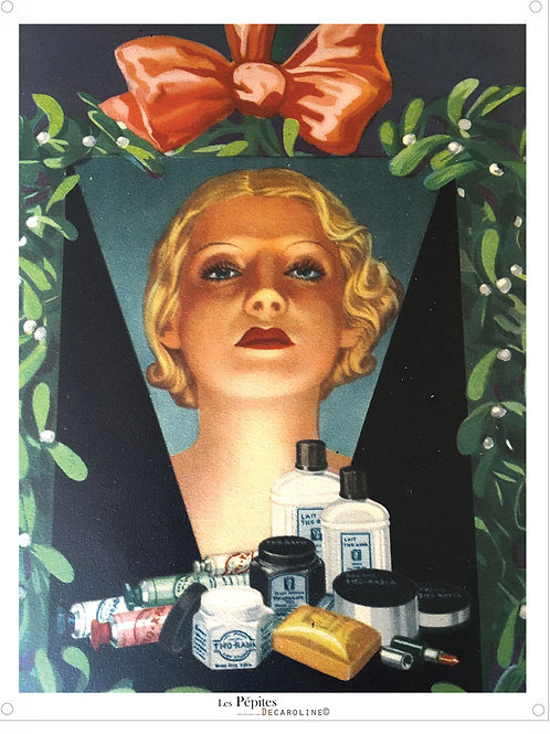Decaroline illustration 50's sur métal - Maquillage